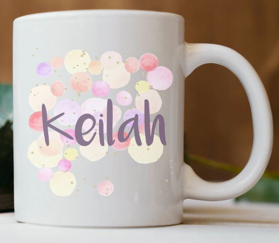 Personalized Polka Dots Name Mug ~ Custom Name ~ Gift for Friend ~ Gift for Coworker ~ Christmas Gift ~ Birthday Gift ~ Stocking Stuffer