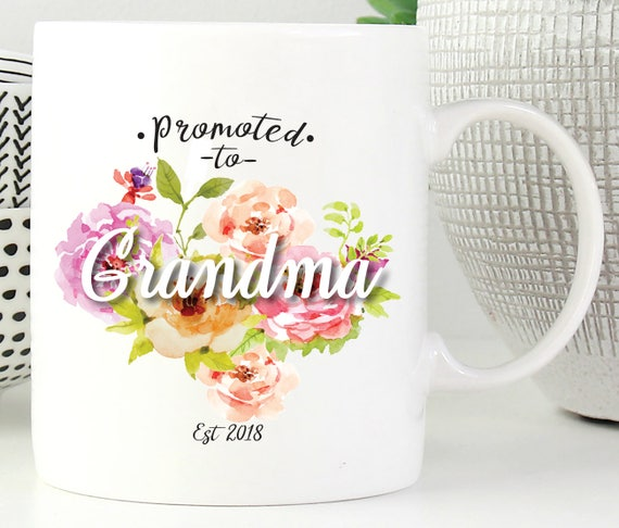 Promoted To Grandma Mug ~ New Grandma Mug ~ New Aunt Mug ~ Pick the name for Grandma ~ Custom Grandma Mug ~ Baby Shower Gift ~ Gift for Mom