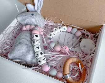 Personalised Easter//Bunny Dummy Clip Perfect Baby Gift