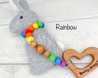 Personalised Baby Custom Gift Bunny My First Easter Rattle  Baby Keepsake  Sensory Rattle Toy Easter Baby Toy Rabbit Child Gift