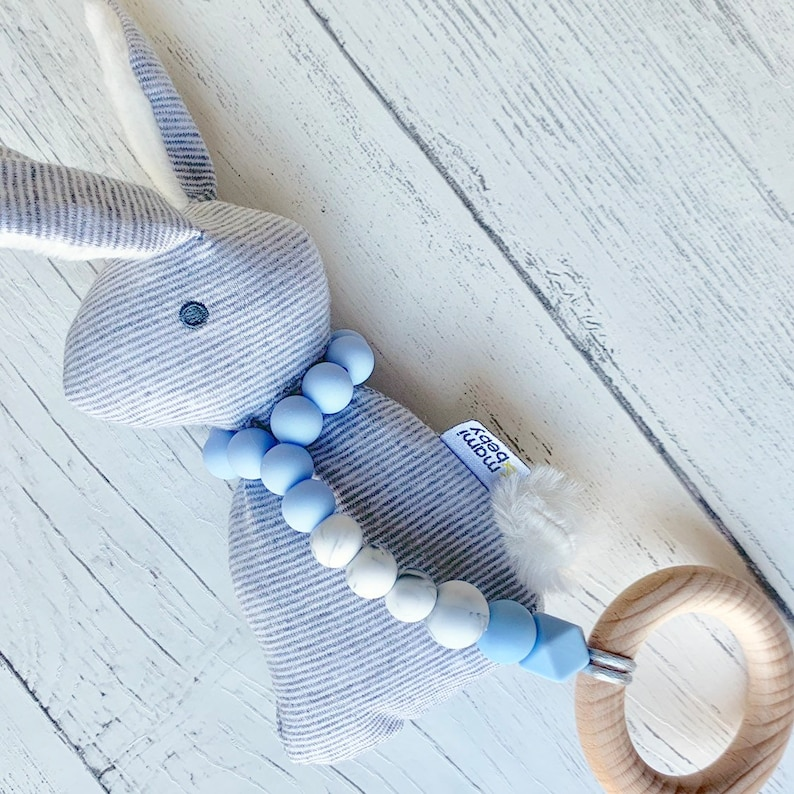 Baby Ribbon Teethers-Teether Made to Order-Can be Personalized-Baby Shower-Birth