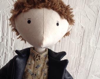 Textile  doll. Handmade doll. Art doll.