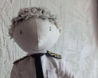 Textile doll. Art doll. Handmade doll.