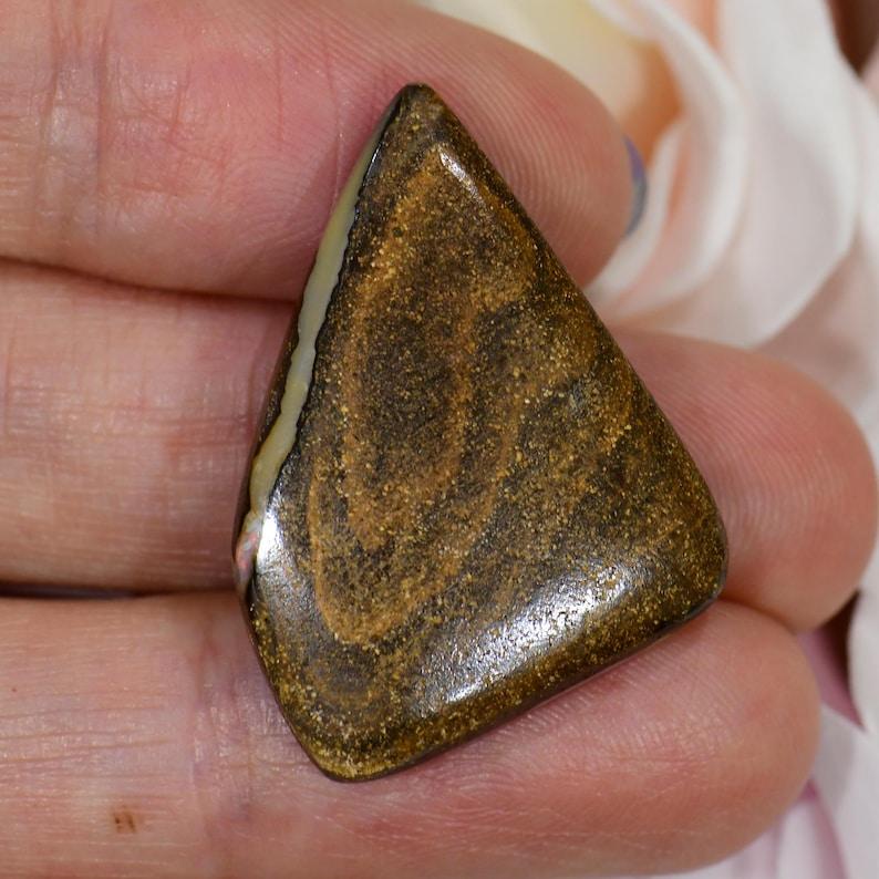 Well Polished Pastel Color Natural Solid Boulder opal from Queensland Australia 24.95 ct
