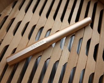 PENBBS Model 350 Aluminum Alloy Fountain Pen - Pale Gold
