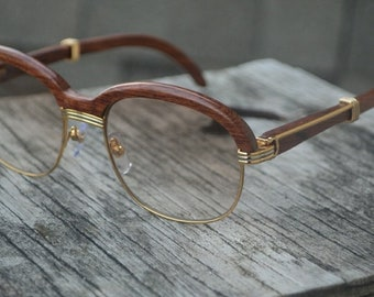 d77e0267000 Iced Out Custom Cartier sunglasses in wood