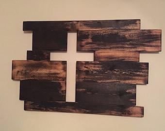 Wonderful Burnt Cross, Wall Decor, Wooden Cross, Cross Decor, Burnt Wooden Cross