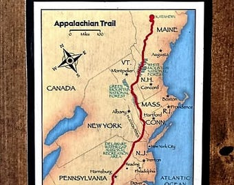 Appalachian trail map | Etsy