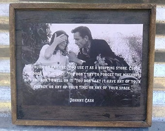J C  life quote with Lady - Wooden Sign