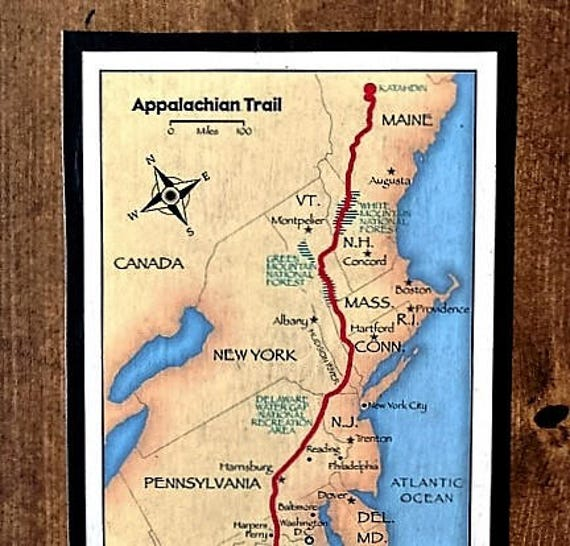 Appalachian Trail Map on Reclaimed Wood on map of florida, mount mitchell, shenandoah national park, map of university heights, blue ridge mountains, pacific crest trail, map of anna ruby falls, map of standing stone trail, skyline drive, great smoky mountains national park, map of ozark highlands trail, north country trail, clingmans dome, appalachian mountains, map of natchez trace trail, mount rogers, map of va creeper trail, brasstown bald, map of hunting, mount katahdin, map of national scenic trails, map of finger lakes trail, great smoky mountains, map of appalachia, continental divide trail, map of appalachian ohio, map of georgia, appalachian trail conservancy, blood mountain, map of arizona trail, springer mountain, map of tanawha trail, map of cumberland trail, map of billy goat trail, map of erie canalway trail, map of civil war trails, long trail, map of ruggles mine,