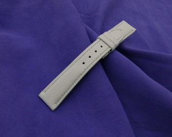 57a4f7343 21mm/18mm Genuine EPsom Calf Leather Watch Strap - Leather Watch Band -  Handstitched - Ziczac Leather - Multiple Colors Available