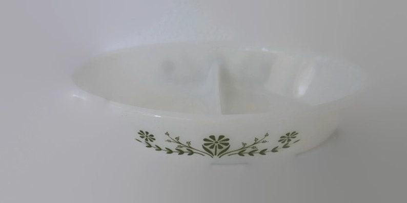 Vintage Glasbake Casserole Dish Serving Dish with Vegetable Design Jeannette Glass
