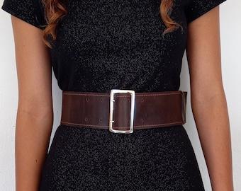 Wide leather belt, Waist belt ,Womens leather belt, Fashion belt, Dress belt
