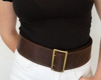 Dark brown belt | Etsy
