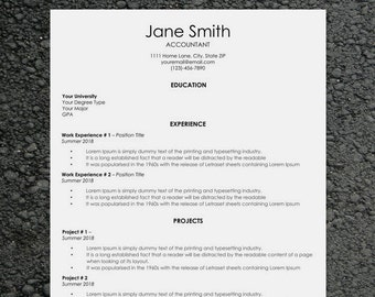 Classic Resume Template | Word Resume Template | Cover Letter Templates | CV Template | Best Resume Template | Professional Resume Template