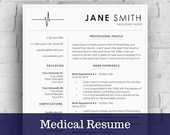 Cover Letter Medical Istant | Medical Resume Cv Template Nurse Cover Letter Easy To Edit Etsy