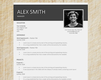 Clean Resume Template | Word Resume Template | CV Template | Cover Letter Templates | Simple Resume Template | Creative Resume Template