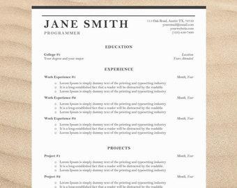 Vintage Resume Template | Professional Resume Template | Cover Letter Templates | CV Template | Word Resume | Modern Resume Design Download