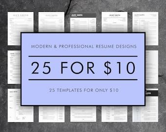 easy resume template modern cv template creative cover etsy