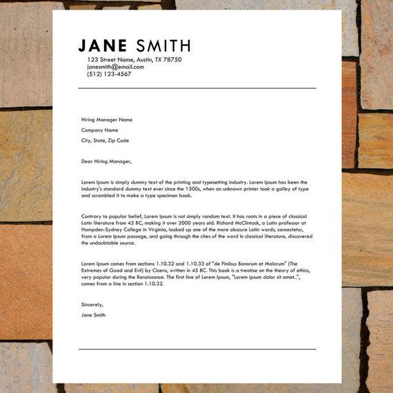 Career Resume/CV Template | Modern Cover Letter Template | Easy to Edit and  Instant Download
