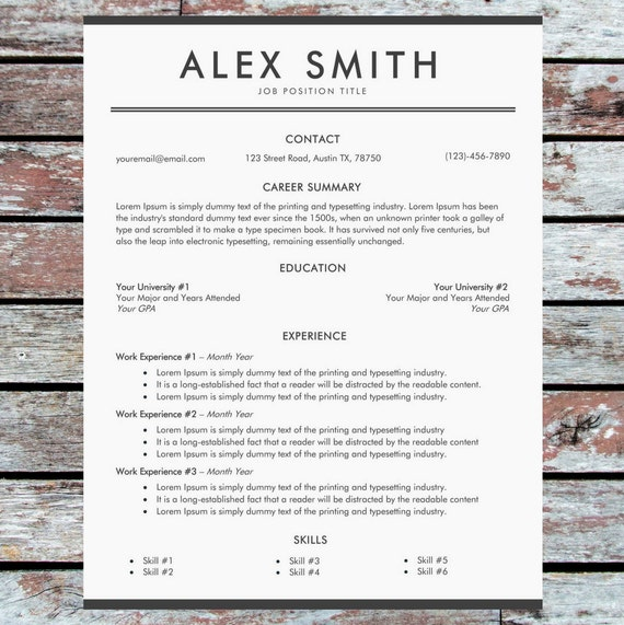 Professional resume template business resume template cv etsy image 0 accmission Image collections