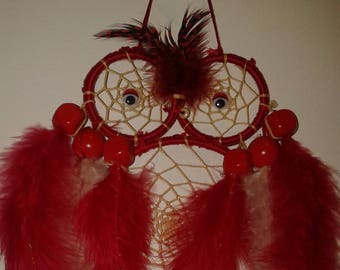 OWL love Red and beige