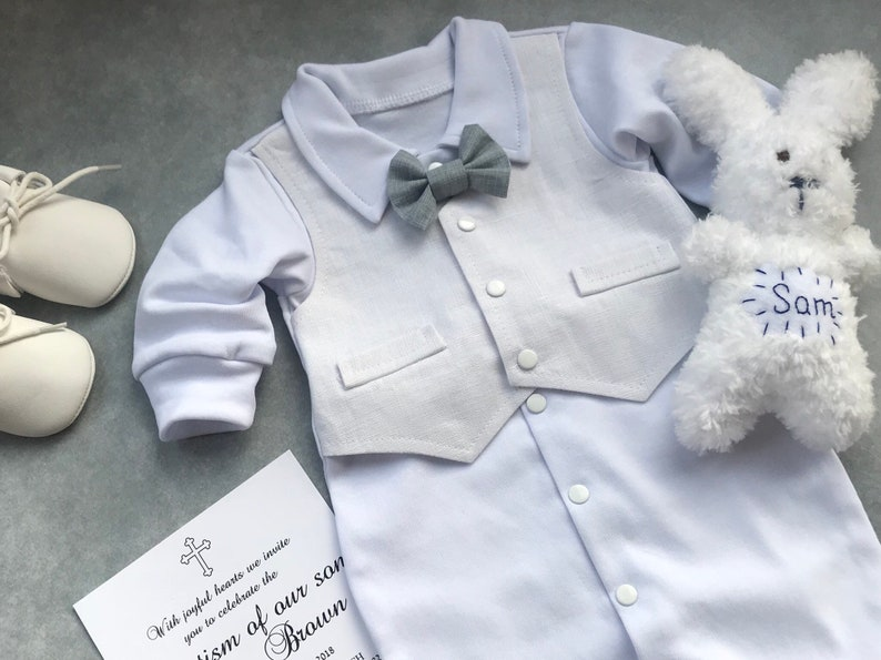 baby boy baptism outfit Baby boy blessing outfit baby boy christening outfit newborn boy coming home outfit summer