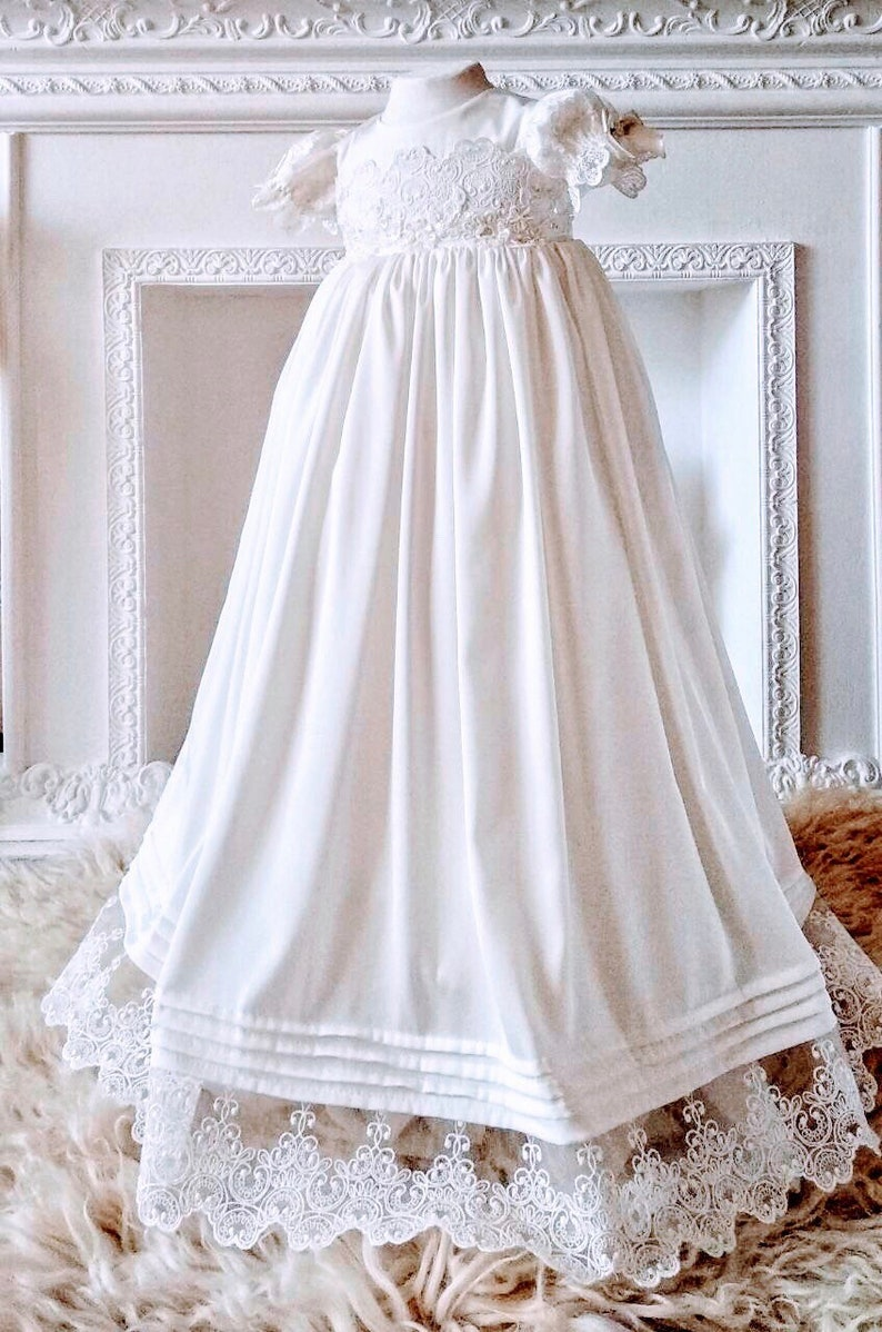 2269d13bb14 Girls blessing outfit newborn christening gown with bonnet