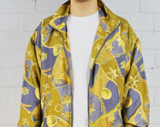 67af5bb212b Vintage Gold Silk Bomber Jacket