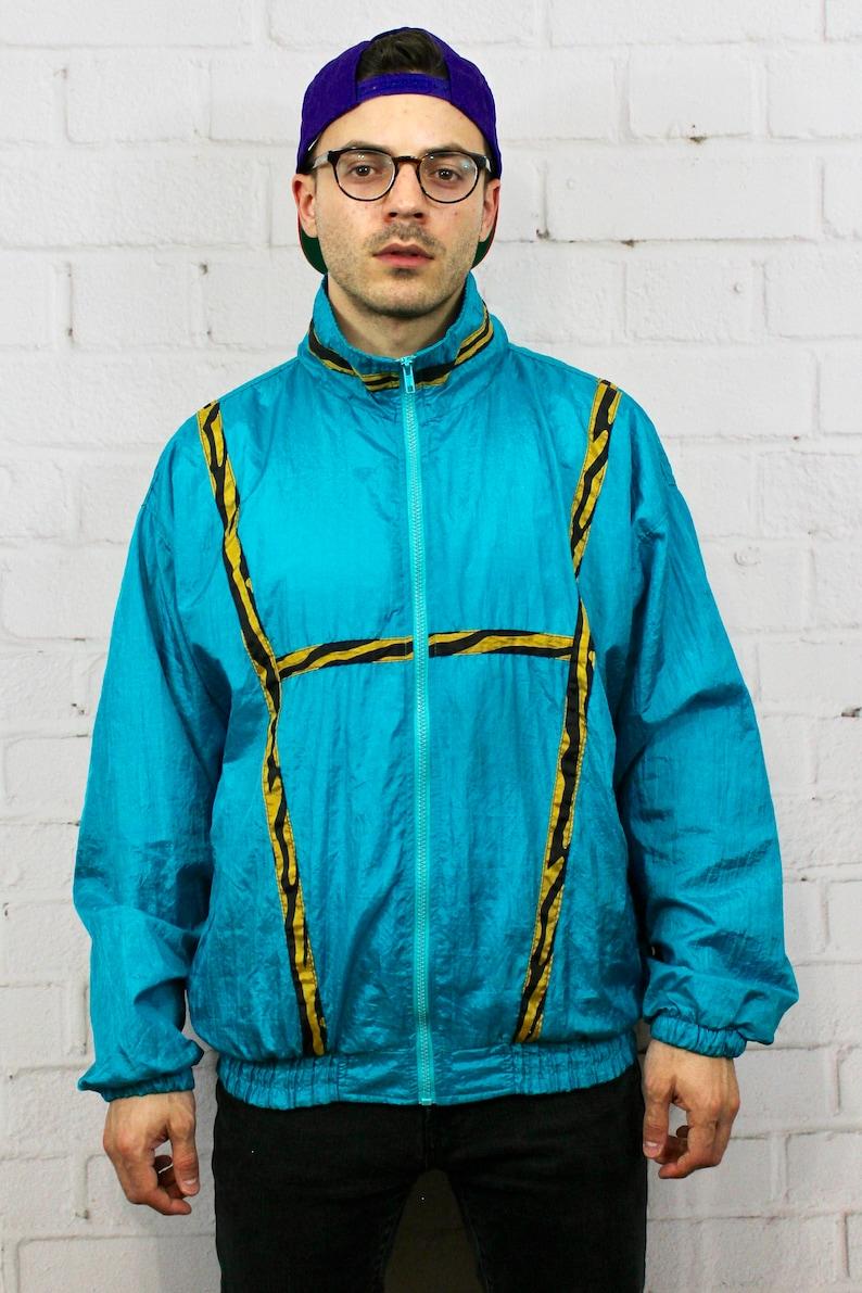 90 Or Style Vintage Par S Animal Fresh Print Prince Des Jacket Femmes Florale Vent Turquoise Années Track Sauvé 80 Funky Coupe Hommes Broderie Le EH29IWDY