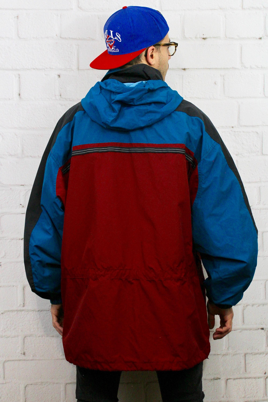 Vintage XL Obermeyer Blue Red Ski Jacket   Mens Womens 80s 90s Color ... 76b147efc