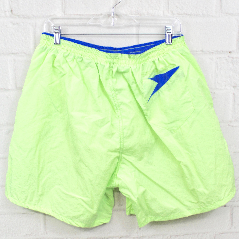 2d98068496 Neon Green 90's Speedo Mens Swim Trunks | Vintage Fluorescent Nylon ...