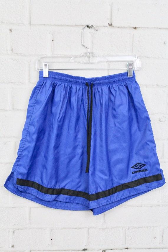 "Vtg 90s New Umbro Mens Nylon Spell Out 6/"" Long American World Cup Soccer Shorts"