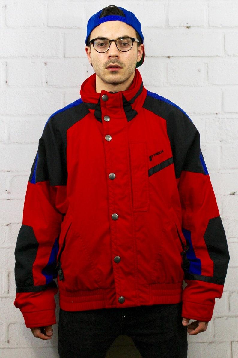 Vintage Tyrolia Ski Jacket   Mens Womens 80s 90s Red Blue  8f5b97a6e