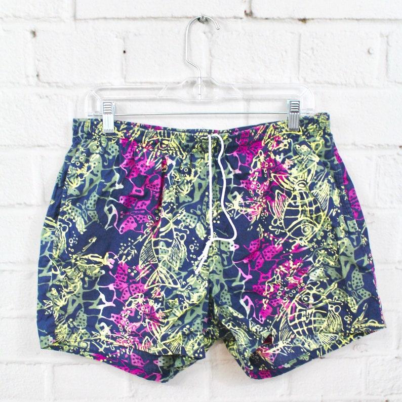 36dc3b6338 Mens Vintage Jantzen Bathing Suit 90's Hawaiian Pattern | Etsy