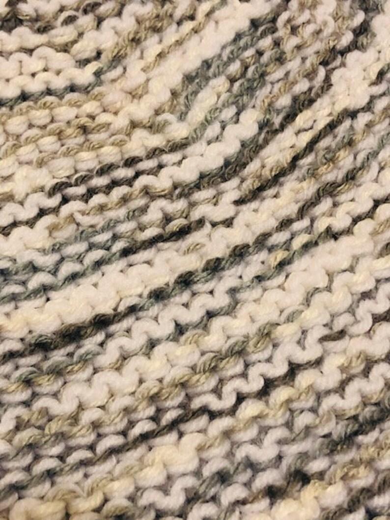 Adultunisex. knit multi-colored beanie Handmade