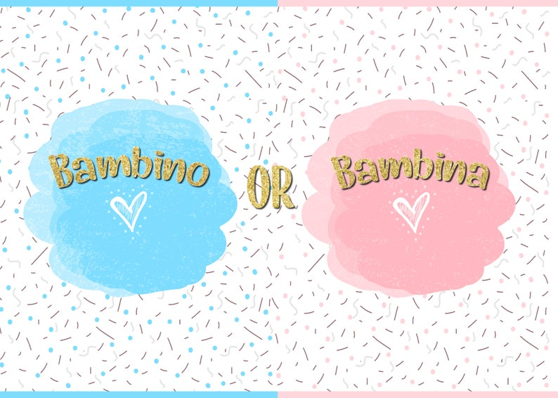 best sneakers eae9e 9a453 7x5ft Printed Gender Reveal backdrop / banner / Bambino or bambina / boy or  girl / twinkle twinkle star / baby shower / bambini