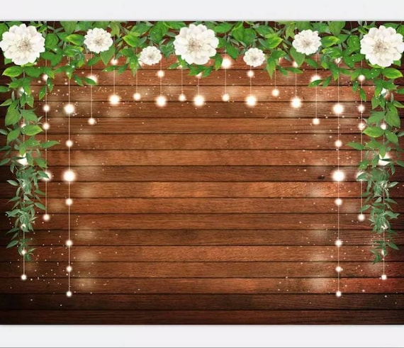 5x7ft Printed Rustic Backdrop / Rustic Party / Rustic