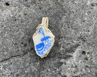 Scottish sea pottery pendant - Handmade in Scotland