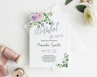 Bridal shower template, wedding cake invitation template,  bridal printable template, Digital Download #DAPBDS-09