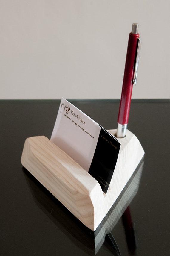 Visitenkartenhalter Holz