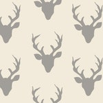 Buck Forest Silver, Art Gallery Knit, Cotton / Spandex Jersey, Knit, 95 Percent Cotton, 5 Percent Spandex, Stretch Fabric, Garment Fabric
