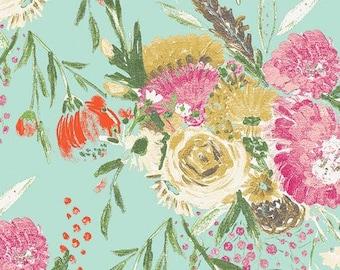 Summer Bouquet Clear Knit, Wild Bloom Knit, Art Gallery Fabric