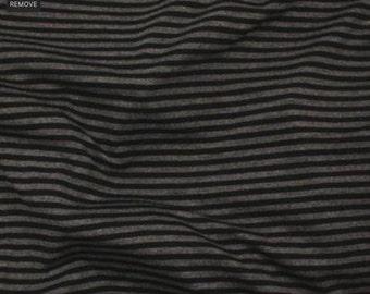 Bamboo, Organic, Dark Grey-Black Stripes Fabric