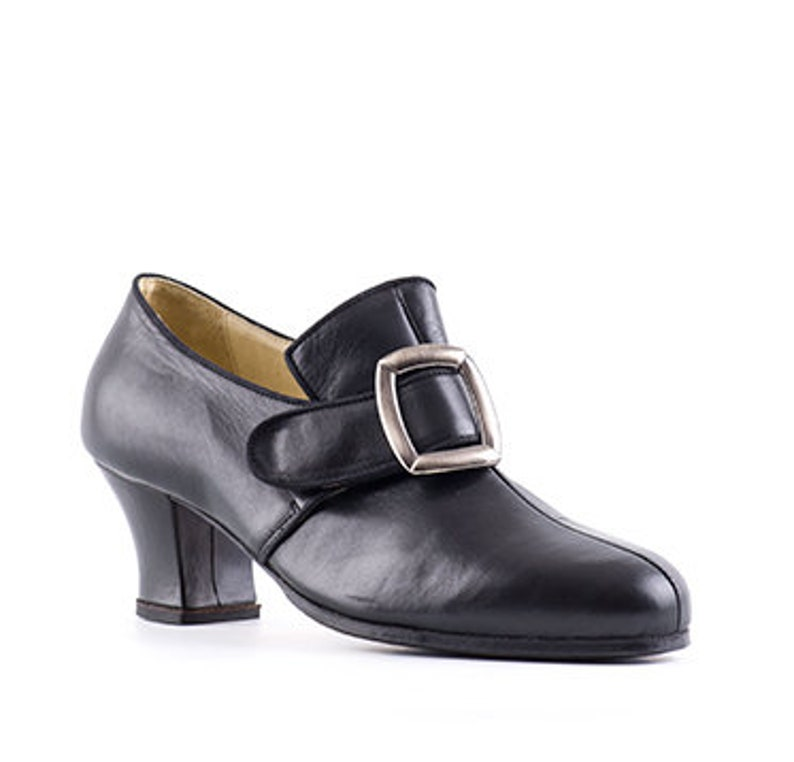 Cuir Siècle Chaussures Paoul 18ème Homme En Auguste StyleEtsy Noir W9YeDHIbE2