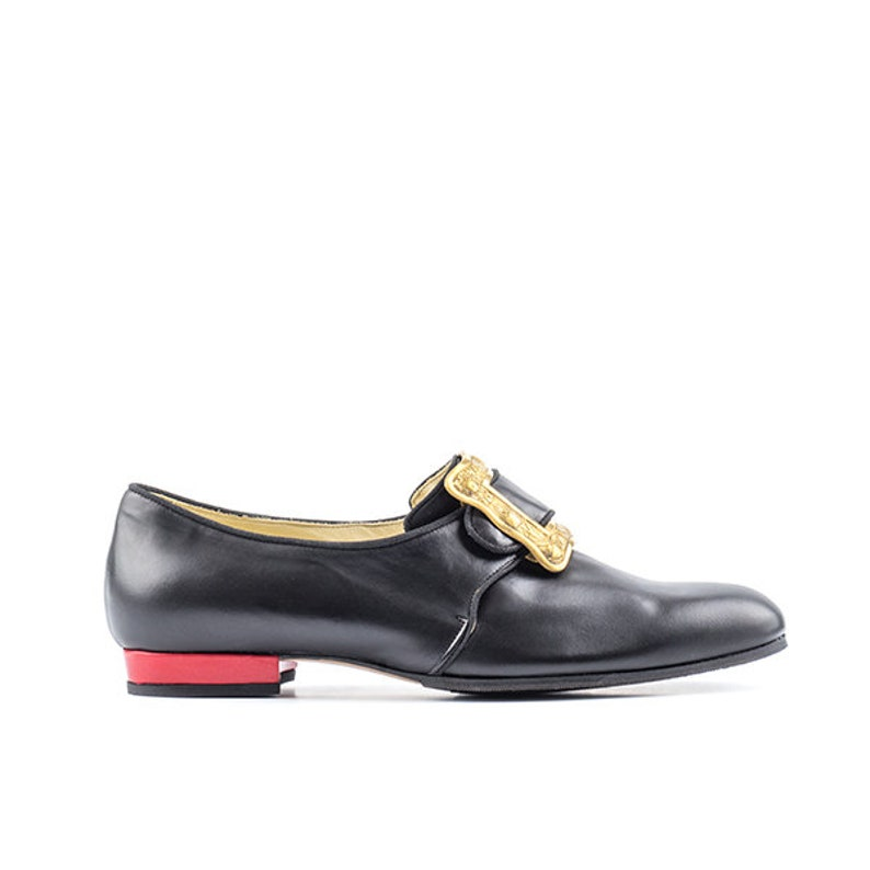 Paoul Louis 19th century black and red leather man shoes style image 0