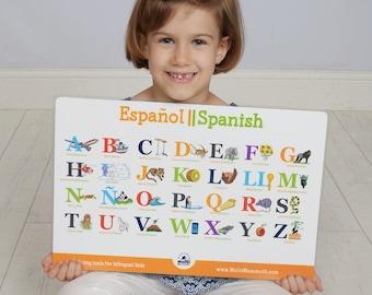 Spanish English bilingual alphabet