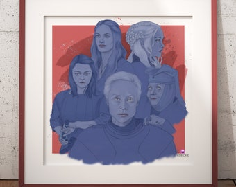 Game of Thrones Women - Fineart Print
