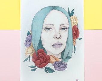 Flower Girl - Fine Art Print