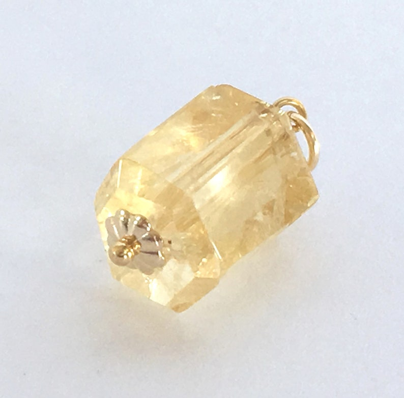 Citrine Crystal /& Gold Filled Pendant  Natural 11x10x8 mm Yellow Citrine  November Birthstone  DIY Jewelry Making Supply  Chain Necklace